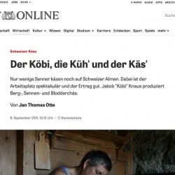 Geschichte über Älpler (Screenshot: ZEIT Online)