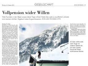 """""""Vollpension wider Willen"""" - Reportage im Magazin zur Wochenende in der Neuen Zürcher Zeitung (Foto: Jan Thomas Otte)"""